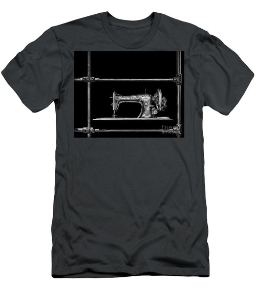 Old Singer Sewing Machine Men's T-Shirt (Slim Fit) by Walt Foegelle