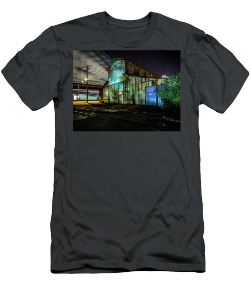 Old Tacoma Industrial Building Light Painted Men's T-Shirt (Athletic Fit)