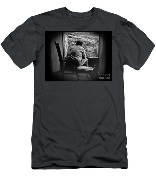 Men's T-Shirt (Slim Fit) featuring the photograph Old Thinking by Bruno Spagnolo