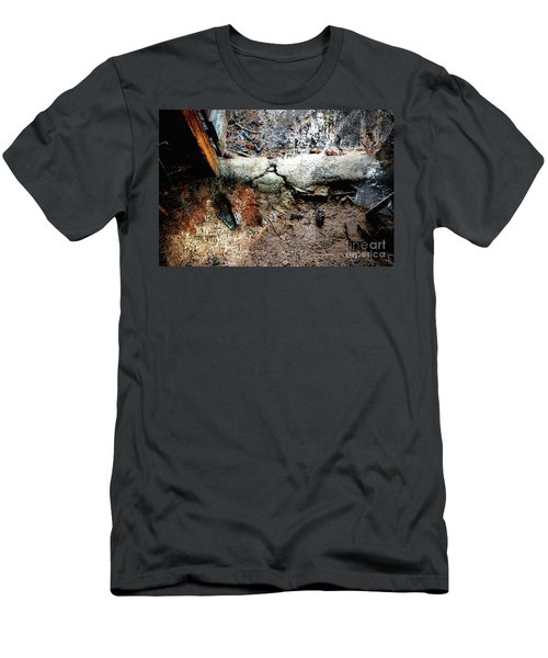 Old Threshold Paint Men's T-Shirt (Slim Fit) by Deborah Nakano