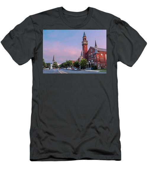 Old Town Hall Sunset Sky Men's T-Shirt (Athletic Fit)