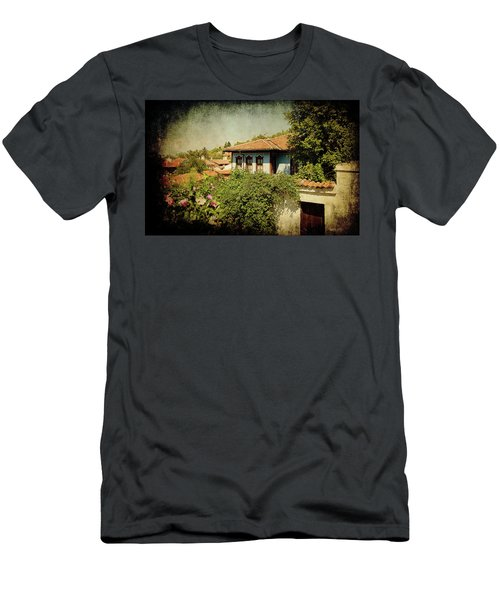 Men's T-Shirt (Athletic Fit) featuring the photograph Old Town by Milena Ilieva