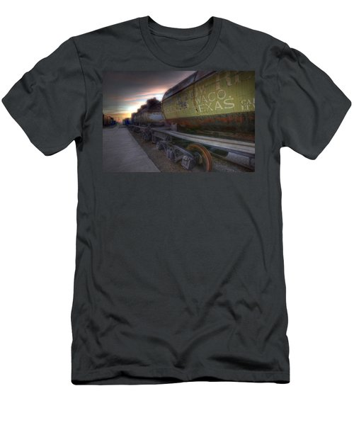 Old Train - Galveston, Tx 2 Men's T-Shirt (Slim Fit) by Kathy Adams Clark
