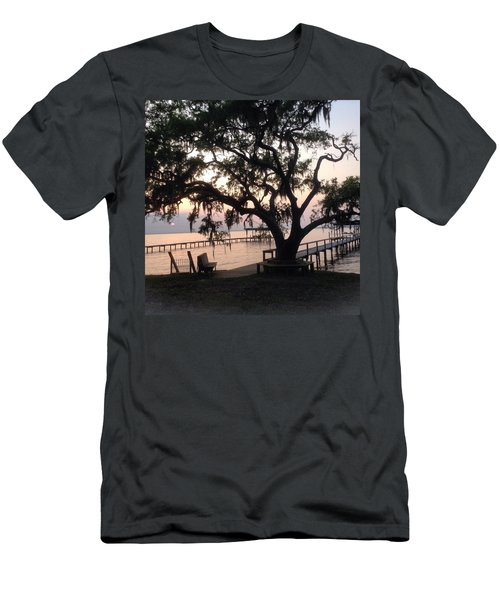 Men's T-Shirt (Slim Fit) featuring the photograph Old Tree At The Dock by Christin Brodie