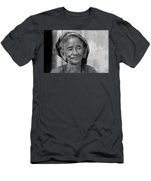 Men's T-Shirt (Athletic Fit) featuring the photograph Old Vietnamese Woman by Silva Wischeropp