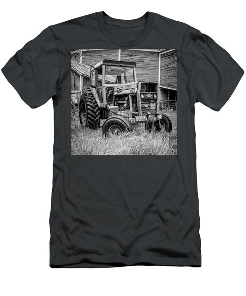 Old Vintage Tractor On A Farm In New Hampshire Square Men's T-Shirt (Athletic Fit)