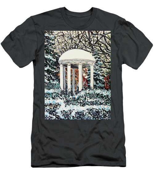 Men's T-Shirt (Athletic Fit) featuring the painting Old Well Winter by Joel Tesch