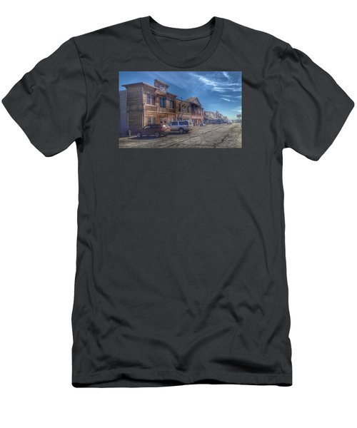 Men's T-Shirt (Slim Fit) featuring the photograph Old Western Town by Deborah Klubertanz