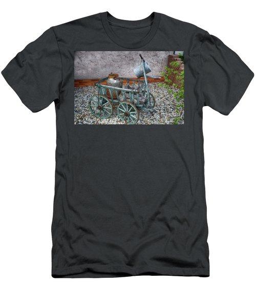 Old Wheelbarrow With Milk Churn Men's T-Shirt (Athletic Fit)