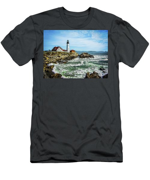 Oldest Lighthouse In Maine Men's T-Shirt (Athletic Fit)
