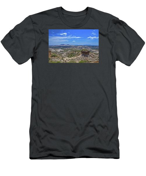 Men's T-Shirt (Slim Fit) featuring the photograph Olduvai Gorge - The Cradle Of Mankind by Pravine Chester