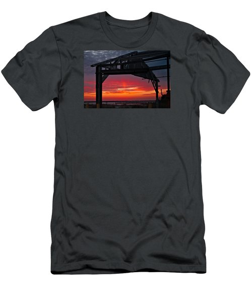 Ole Shipyard Framing Men's T-Shirt (Slim Fit) by Laura Ragland
