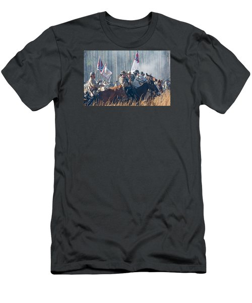 Olustee Confederate Charge Men's T-Shirt (Slim Fit) by Kenneth Albin