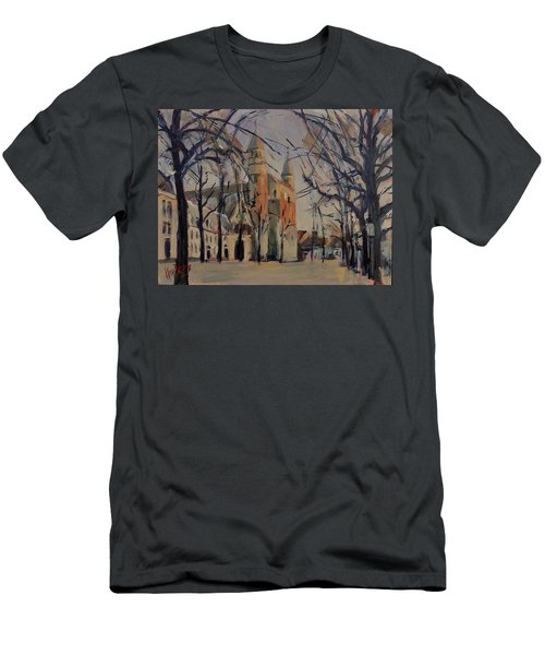 Olv Square On A Sunny Winter Afternoon Men's T-Shirt (Athletic Fit)