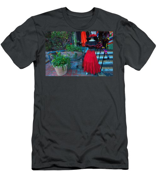 Olvera Street Los Angeles Men's T-Shirt (Slim Fit) by Ram Vasudev
