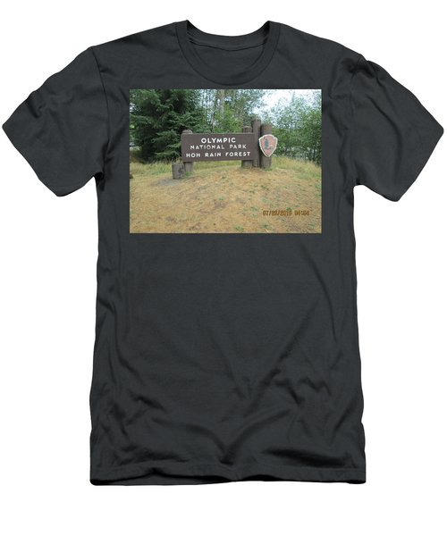 Olympic Park Sign Men's T-Shirt (Athletic Fit)