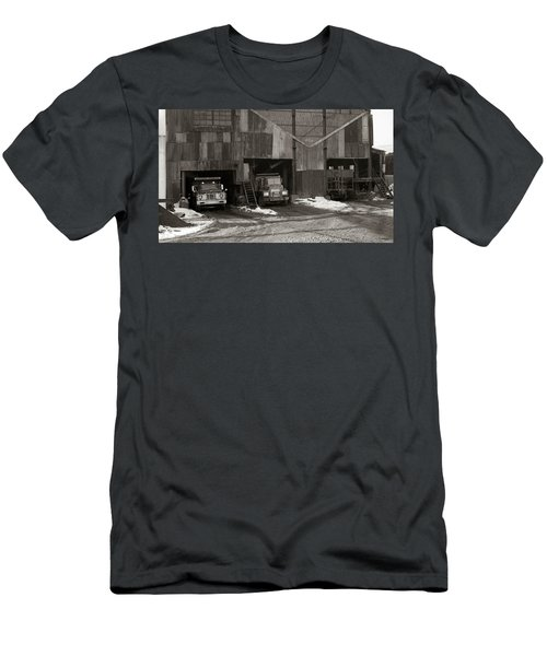 Olyphant Pa Coal Breaker Loading Trucks And Gondola Car Winter 1971 Men's T-Shirt (Athletic Fit)
