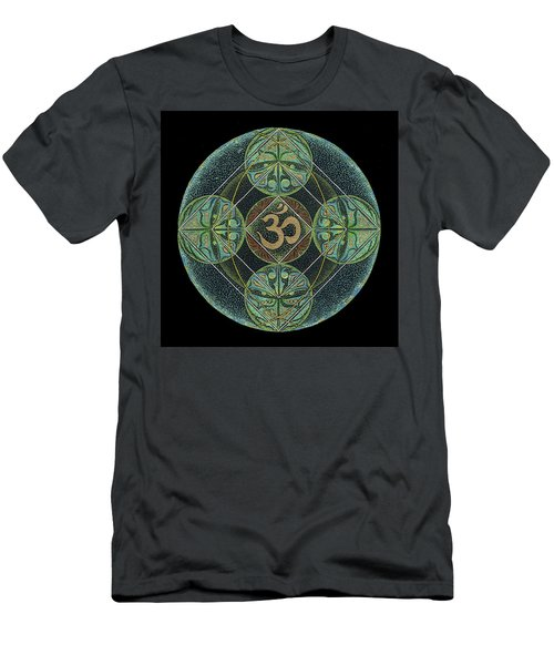 Men's T-Shirt (Athletic Fit) featuring the painting Om by Keiko Katsuta