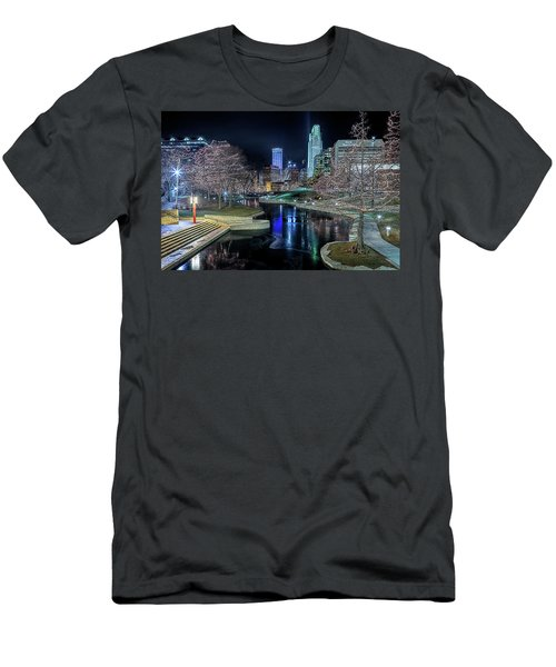 Omaha Holiday Lights Festival Men's T-Shirt (Athletic Fit)