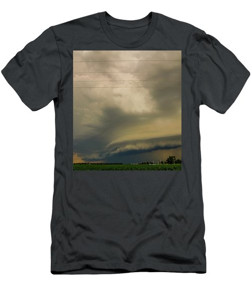 Men's T-Shirt (Athletic Fit) featuring the photograph Ominous Nebraska Outflow 007 by NebraskaSC