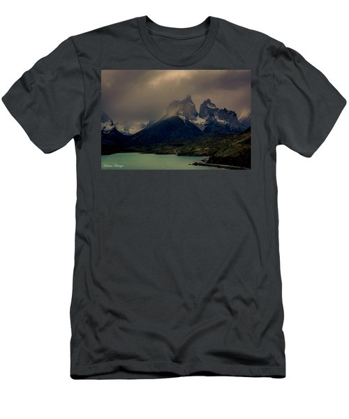 Men's T-Shirt (Slim Fit) featuring the photograph Ominous Peaks by Andrew Matwijec