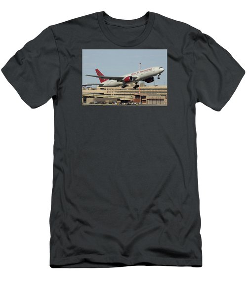 Omni Air International Boeing 777-222 N927ax Phoenix Sky Harbor January 3 2015 Men's T-Shirt (Slim Fit)
