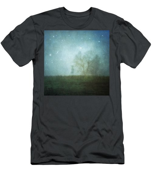 On A Starry Night, A Boy And His Tree Men's T-Shirt (Athletic Fit)