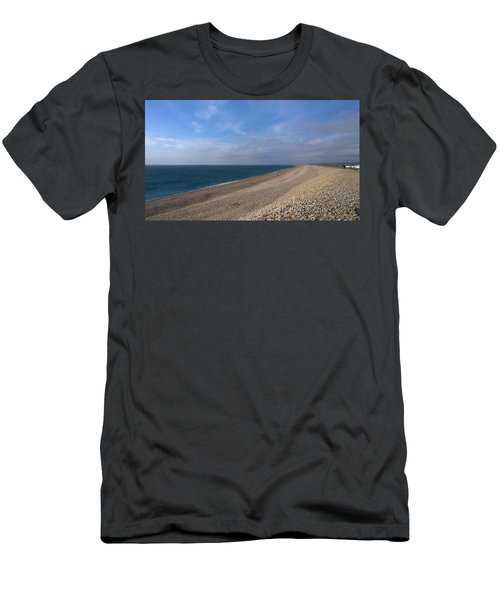 Men's T-Shirt (Slim Fit) featuring the photograph On Chesil Beach by Anne Kotan