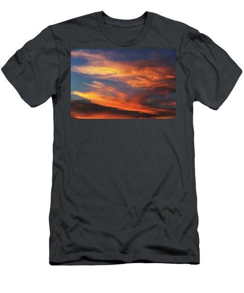 On Eagle's Wings Men's T-Shirt (Slim Fit) by Karen Slagle