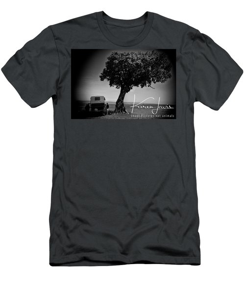 Men's T-Shirt (Slim Fit) featuring the photograph On Safari by Karen Lewis