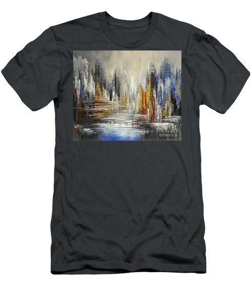 On The Hills Of Dream Men's T-Shirt (Slim Fit) by Tatiana Iliina