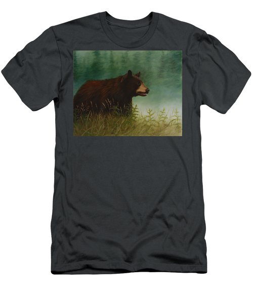 Men's T-Shirt (Athletic Fit) featuring the painting On The Hunt by Tammy Taylor