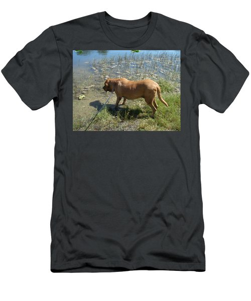 On The Hunt Men's T-Shirt (Slim Fit) by Val Oconnor