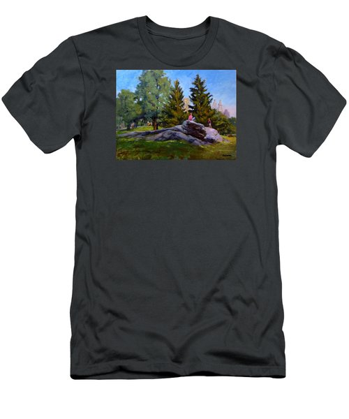 On The Rocks In Central Park Men's T-Shirt (Athletic Fit)