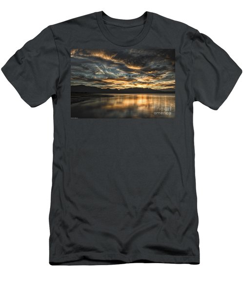 Men's T-Shirt (Slim Fit) featuring the photograph On The Wings Of The Night by Mitch Shindelbower