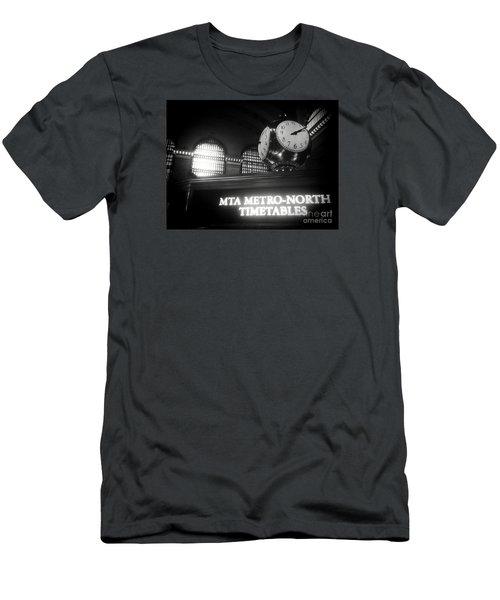 On Time At Grand Central Station Men's T-Shirt (Slim Fit) by James Aiken