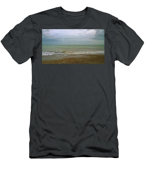 Men's T-Shirt (Slim Fit) featuring the photograph On Weymouth Beach by Anne Kotan
