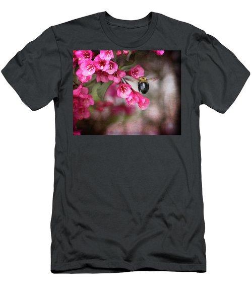 On Wine And Roses Weigela - 2 Men's T-Shirt (Slim Fit) by Debra Martz