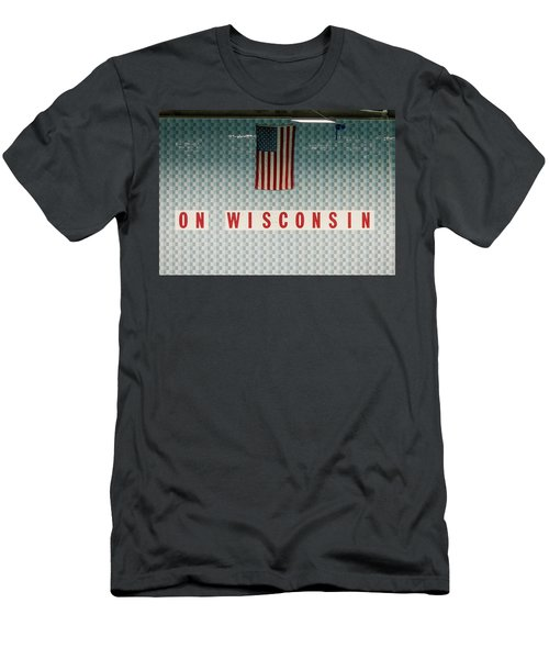 On Wisconsin  Men's T-Shirt (Athletic Fit)