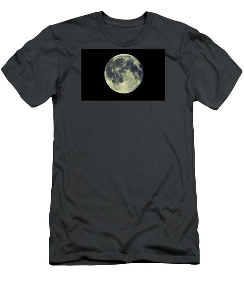 Men's T-Shirt (Slim Fit) featuring the photograph Once In A Blue Moon by Candice Trimble