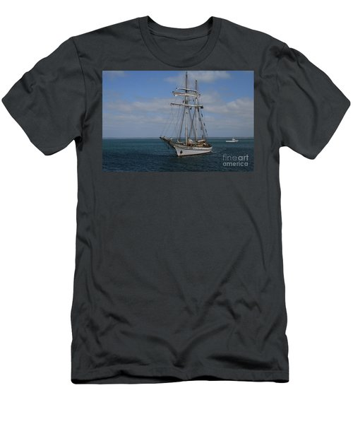 Men's T-Shirt (Athletic Fit) featuring the photograph Approaching Kingscote Jetty by Stephen Mitchell