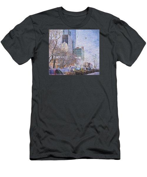 One Winter Day Men's T-Shirt (Slim Fit) by Vladimir Kholostykh
