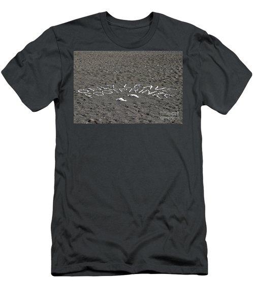 Only Leave Footprints Men's T-Shirt (Athletic Fit)