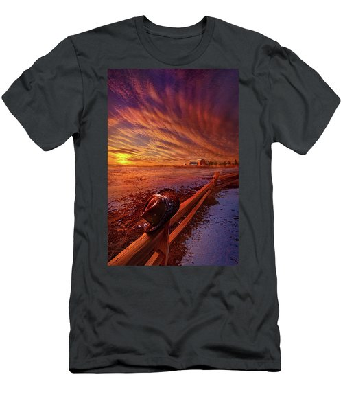 Men's T-Shirt (Slim Fit) featuring the photograph Only This Moment In Between Before And After by Phil Koch