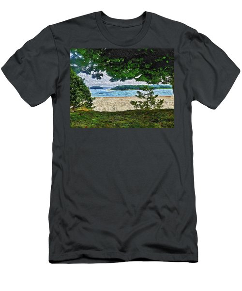 Men's T-Shirt (Athletic Fit) featuring the painting Onset, Ma by Joan Reese