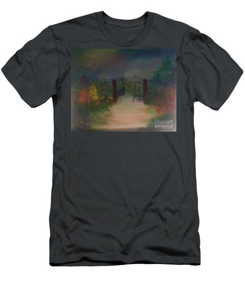 Men's T-Shirt (Athletic Fit) featuring the painting Open Gate by Denise Tomasura