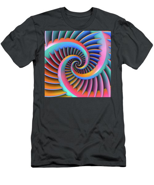 Opposing Spirals Men's T-Shirt (Athletic Fit)