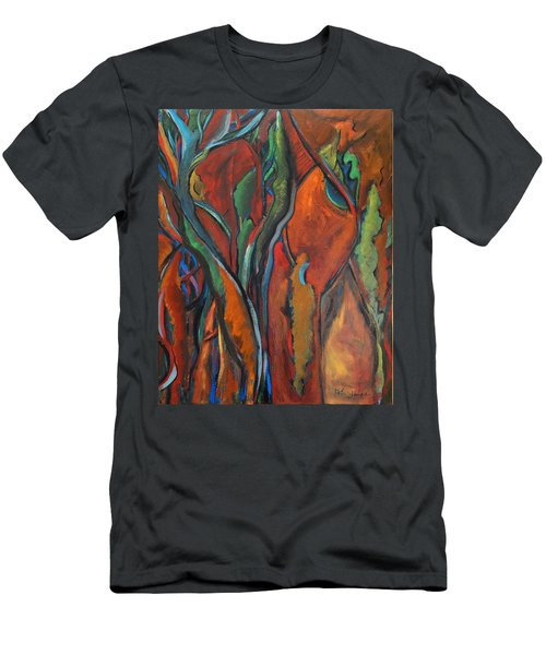 Orange Abstract Men's T-Shirt (Athletic Fit)