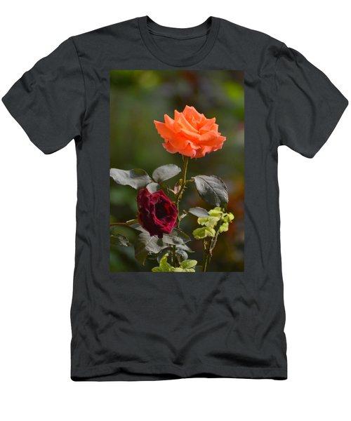 Orange And Black Rose Men's T-Shirt (Athletic Fit)