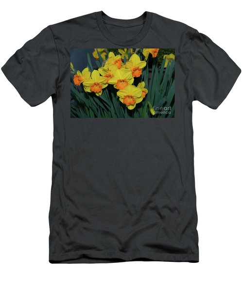 Orange-centered Daffodils Men's T-Shirt (Athletic Fit)